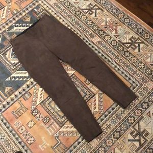 Zara Basic Collection Taupe Skinny Suede Pants
